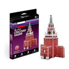 3D пазл <b>Спасская башня</b> (Россия) (<b>Cubic Fun</b> S3035) — купить в ...