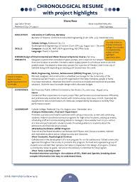 CHRONOLOGICAL RESUME ResumeLetterWriting