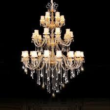European style restaurant crystal lamp duplex building staircase ...