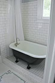 rural clawfoot tub white bathroom transparent plastic shower curtain which combined with subway