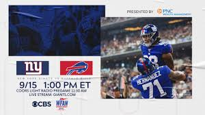 Giants vs. Bills Broadcast Info: TV channel, Radio Station and Live ...