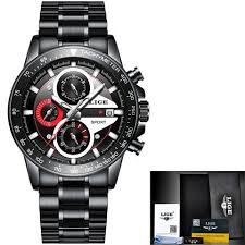 [Wish] Lige Mens Watches <b>Top Luxury Fashion</b> Business Quartz ...