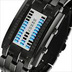 Fashion Creative <b>Sport Watch</b> Men Stainless Steel Strap LED ...