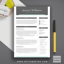 modern resume template cover letter page template professional resume template cv template 1 2 and 3 page resume