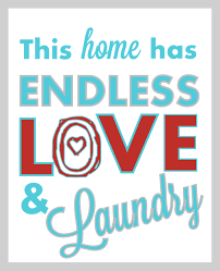room wall teal pop home have  endless love and laundry free printable via a pop of pretty
