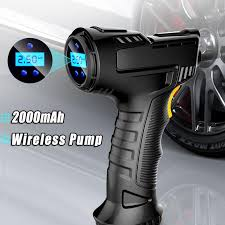 120W Rechargeable Air Compressor Wireless Inflatable Pump ...