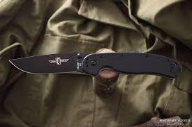 <b>Нож складной</b> RAT-1 <b>Black</b> Blade <b>Black</b> Handle D2 8868 – Ontario