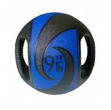 Купить <b>Медбол Original FitTools</b> FT-DHMB-09, 9 кг синий/<b>черный</b> ...