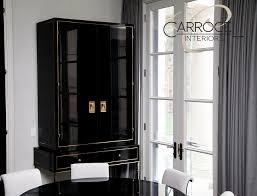 custom made art deco black lacquer cabinet contemporary dining room black laquer furniture