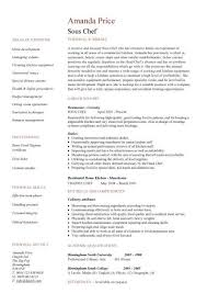 sous chef resume  cv examples  head  what is a sous chef  junior    sous chef resume