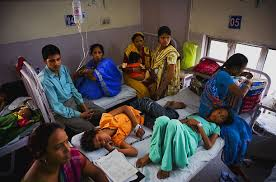 indias health care crisis  photo essays  time parents and kids wait in a makeshift anteroom on the children floor of dr ram