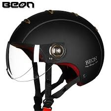 BEON <b>Motorcycle Helmet Scooter Open</b> Face Casque Capacete ...