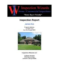 sample home inspection report atlanta inspection wizards click the report cover page below to view the full report