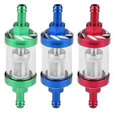 Motorbike <b>Oil</b> Filter Metal Glass Inline <b>Gas Oil Fuel</b> Filter 8mm ...