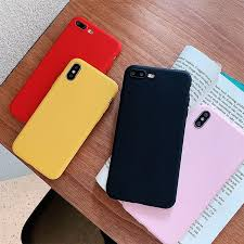 For <b>Xiaomi Redmi</b> 7A Note Mi A1 A2 Lite <b>Case Solid</b> Candy Silicone ...