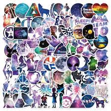 <b>50pcs Galaxy Sticker</b> Graffiti Funny Stickers for DIY Sticker on Travel ...