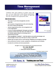 time mgmt png printable brochure