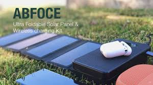 ABFOCE: Ultra Foldable <b>Solar Panel</b> & Wireless <b>Charger</b> Kit ...