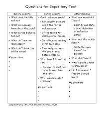 comprehension expository text questions building rti instructional materials