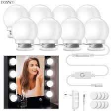 10Pcs Makeup Mirror Vanity LED Light Bulbs lamp Kit <b>3 Levels</b> ...