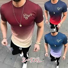 2018 Summer New Men <b>Fashion</b> Casual O-neck Short Sleeve ...