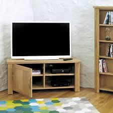 aston solid oak corner television cabinet tv unit baumhaus space shape baumhaus mobel solid oak corner