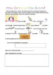 english teaching worksheets  my favourite foodenglish worksheets  my favourite food