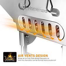 Homemaxs <b>BBQ</b> Grill, Stainless Steel <b>BBQ</b> Charcoal Grill, Portable ...