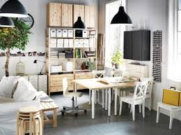 black white pine wood home office space 665x498 arts crafts home office