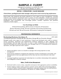 Resume Examples  Retail Operation Sales Manager Free Resume Sample With Core Skills In Profit Loss     Rufoot Resumes  Esay  and Templates