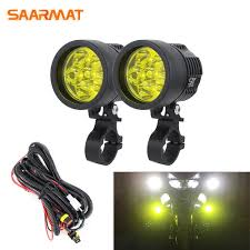 2PCS <b>Universal DIY</b> L6X Headlight <b>LED</b> Motorcycle Motorbike ...