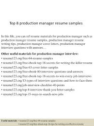production manager sample resume utsa resume template example of thumbnail 4jpg cb 1430028094 top8productionmanagerresumesamples 150426010049 conversion gate02 thumbnail 4 top 8 production manager resume samples
