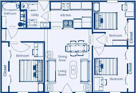 Low Income Residential Floor Plans by Zero energy Design®Home Floor Plan sq ft  Bedroom  Bathroom   Mirror Image  Many flexible options and simple design