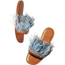Miu Miu <b>Jeweled</b> Feather Mule Slide Sandal (1 460 <b>820</b> LBP) liked ...