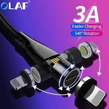 Super Sale #57a0 - <b>Olaf 540 Rotation</b> Magnetic USB Cable Fast ...