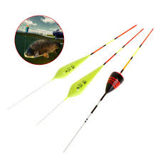 5 pcs set fishing float small fish ice carp trout fluorescent shallow water shaft wood floats stick tackle accessories
