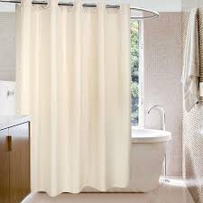 <b>Modern Waterproof Polyester Bathroom</b> Curtain With Hooks Solid ...