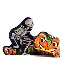 love halloween window decor: vintage halloween decorations pumpkin cart table decoration  vert