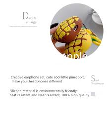 Cute Summer <b>Pineapple</b> Wireless Bluetooth <b>Earphone Case</b> ...