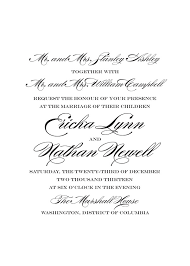Wedding Invitation Wording Bride And Groom Paying ...