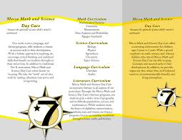 daycare brochures child care flyer templates daycare flyer mecca math and science day care