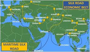 Hasil gambar untuk Political: Map of the One Belt One Road