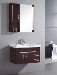 design basin bathroom sink vanities: furniture dazzling small bathroom sink vanity using integrated basin top with single hole faucet on polished
