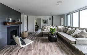 wood hardwood floor neutral colors distressed hardwood flooring living room farmhouse with black paneling