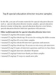 top8specialeducationdirectorresumesamples 150511080112 lva1 app6891 thumbnail 4 jpg cb 1431331370