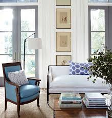 blue and white living room with complementary neutrals blue white living room