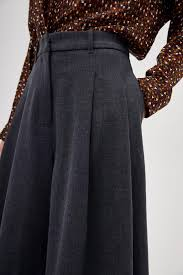 <b>Расклешенные шорты</b> серый меланж цвет - <b>Шорты LIME</b>