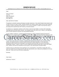 elementary teaching cover letters template elementary teaching cover letters