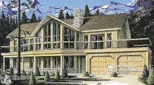House plan W detail from DrummondHousePlans comfront   BASE MODEL Stunning bedroom   drive under garage and terrace   The Timberline