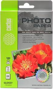 <b>Cactus CS</b>-GA618025 A6/180г/м2 глянцевая <b>фотобумага</b> для ...